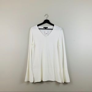 Ann Taylor | White Wide Sleeve Sweater Top